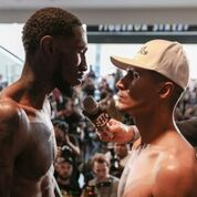 Garcia Easter weigh in stare down Scott Hirano SHOWTIME