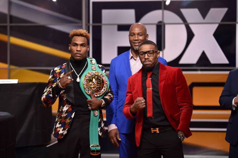 Jermall Charlo Monroe Jr. Fox Sports PBC press event 11 13 18 Credit Lionel Hahn Fox Picture Group
