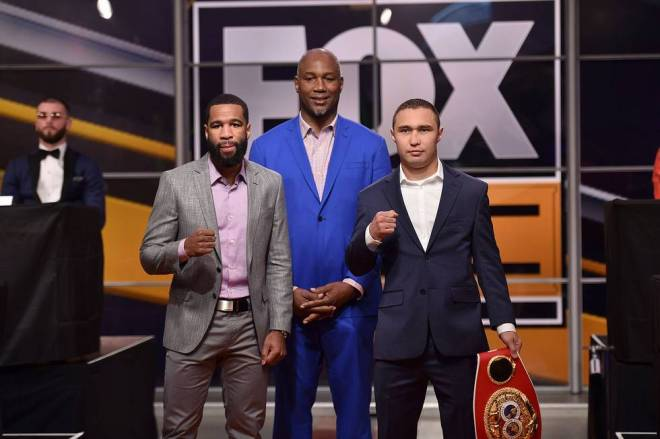 Peterson Lipinets Fox Sports PBC press event 11 13 18 Credit Lionel Hahn Fox Picture Group
