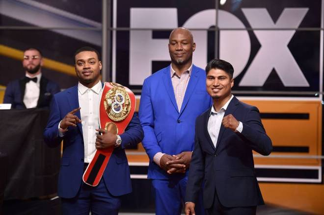 Spence Jr. Garcia Fox Sports PBC press event 11 13 18 Credit Lionel Hahn Fox Picture Group