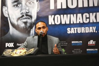 Keith Thurman Lopex Fight Credit Stephanie Trapp TGB Promotions