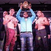 Feb 16 Santa Cruz Rivera weigh in COnfSean Michael Ham TGB Promotions 3
