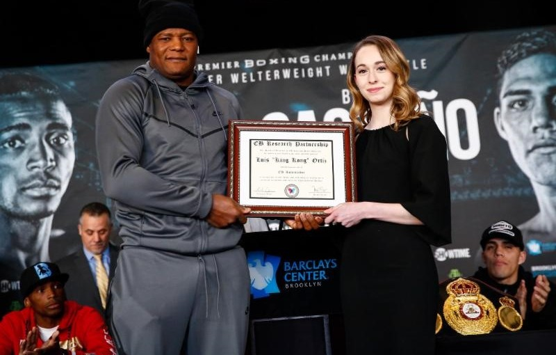 CUBAN HEAVYWEIGHT LUIS ORTIZ NAMED HONORARY AMBASSADOR BY EB RESEARCH PARTNERSHIP TO RAISE AWARENESS FOR DAUGHTER'S DISEASE