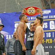 RROL SPENCE JR. VS. MIKEY GARCIA OFFICIAL WEIGHTS & WEIGH-INPHOTOS