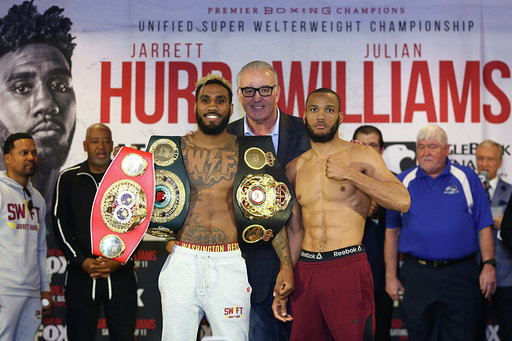 Official Weights & Photos for Jarrett Hurd vs. Julian Williams PBC on FOX and FOX Deportes Fight Night