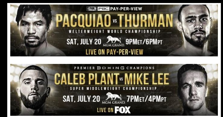 MANNY PACQUIAO VS. KEITH THURMAN & CALEB PLANT VS. MIKE LEE LOS ANGELES PRESS CONFERENCE QUOTES & PHOTOS