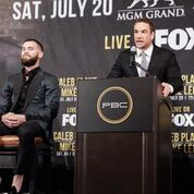 Pacquiao Thurman Plant Lee LA Press COnf Quotes Photos Sean Michael Ham Mayweather Promotions12