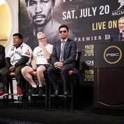 Pacquiao Thurman Plant Lee LA Press COnf Quotes Photos Sean Michael Ham Mayweather Promotions2