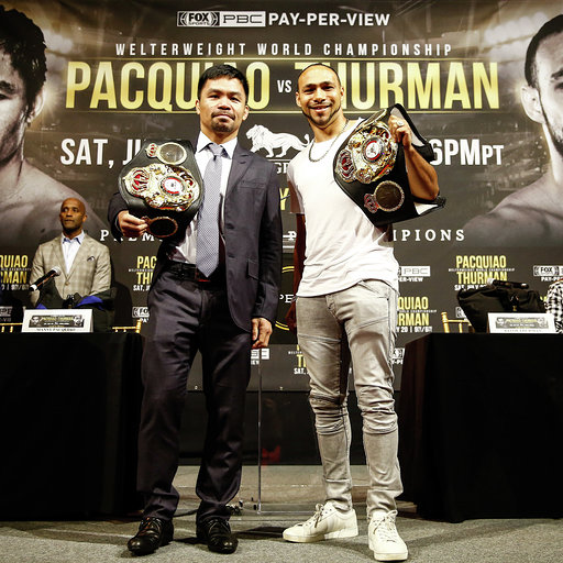 Pacquiao Thurman Press Conf Quotes Photos may 21 19 Credit Stephaine Trapp10