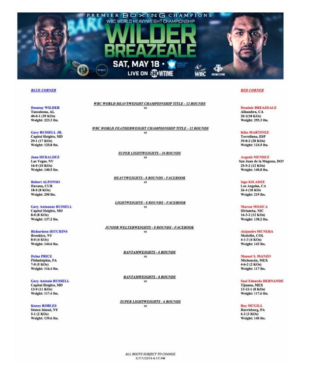 Wilder Breazele Bout Sheet