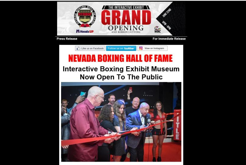 Nevada Boxing Hall Of Fame 1