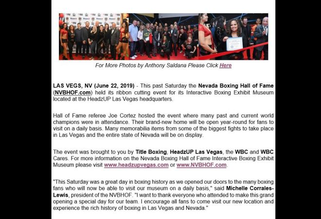 Nevada Boxing Hall Of Fame 2
