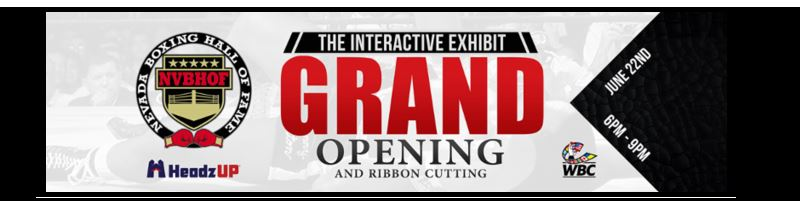 NEVADA BOXING HALL OF FAME  Interactive Boxing Exhibit Museum Now Open To ThePublic
