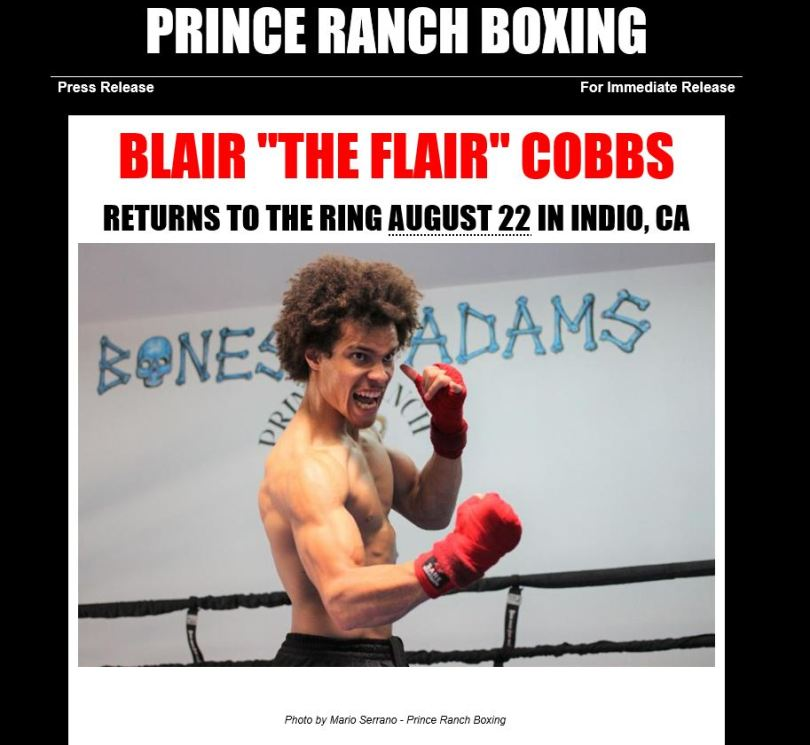 Blair Cobbs Snip 1 Press release 8 22 19 fight
