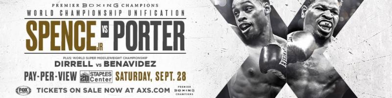 PREMIER BOXING CHAMPIONS TO DELIVER LIVE COVERAGE OF ERROL SPENCE JR. VS. SHAWN PORTER WEEK EVENTS VIA FOX SPORTS PLATFORMS, SATELLITE & STREAMING